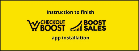 Checkout Boost and Boost Sales app installation