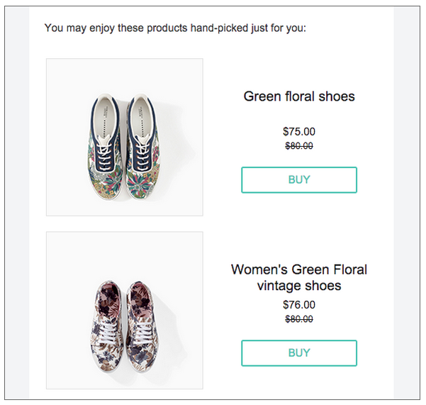 product recommendation in emails by beeketing