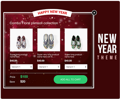 boost sales app, holiday themes