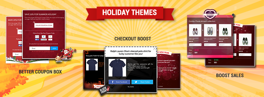 Holiday themes for Beeketing apps on Shopify