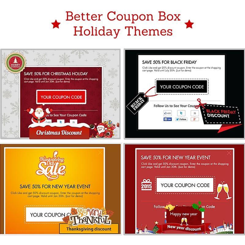 Better Coupon Box Holiday Themes for coupon pop up