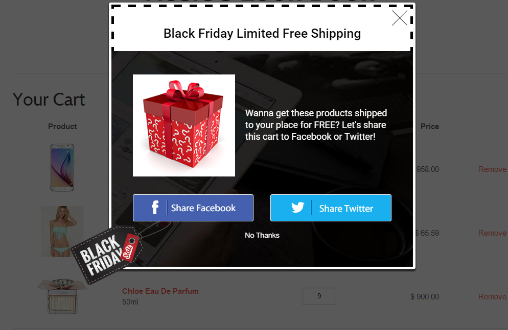 offer free shipping promotion