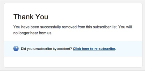 unsubscribe confirmation email