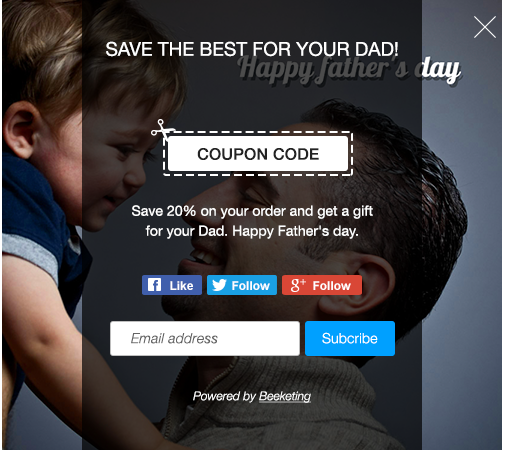 coupon popup by the best wp popup plugin