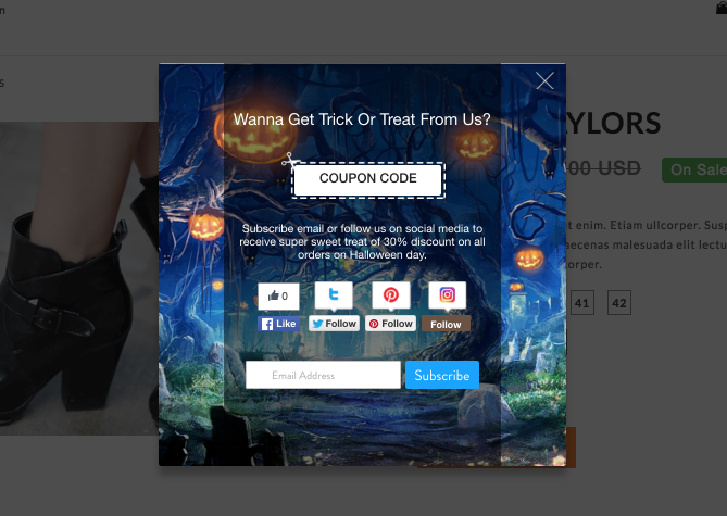 Better Coupon Popup for Halloween