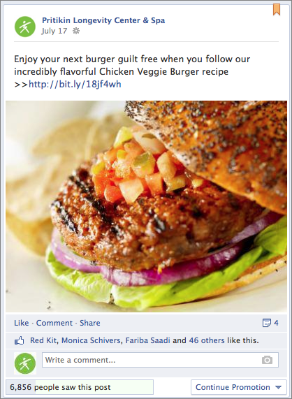 Sponsored posts on Facebook