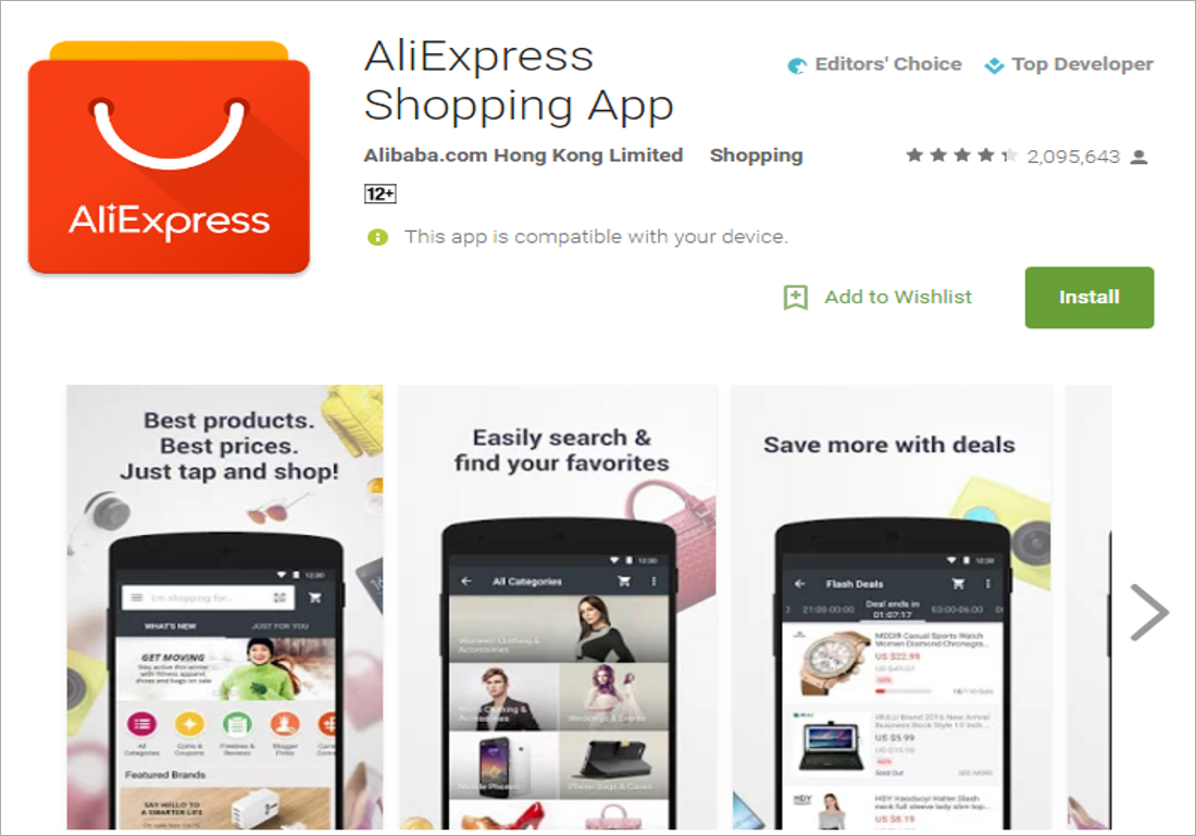 AliExpress mobile app