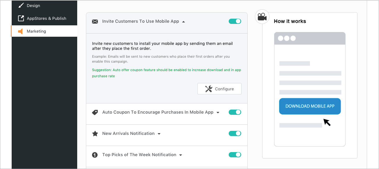 SellMob mobile app on Shopify