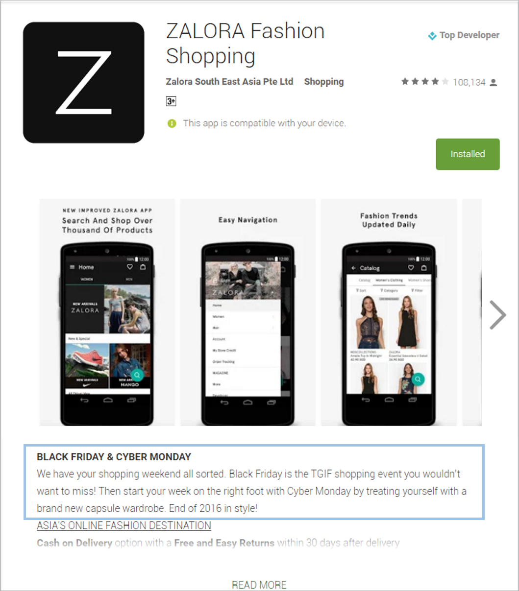 mobile shopping app
