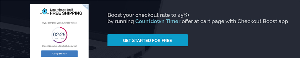 use Checkout Boost app to run Countdown Timer offer