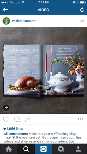 instagram ad to increase holiday sales