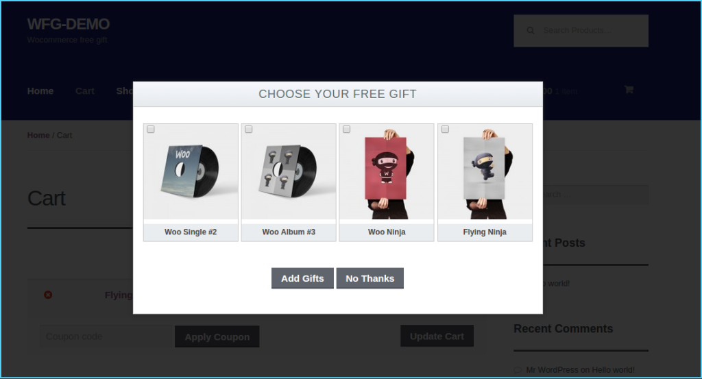 WooCommerce Multiple Free Gift