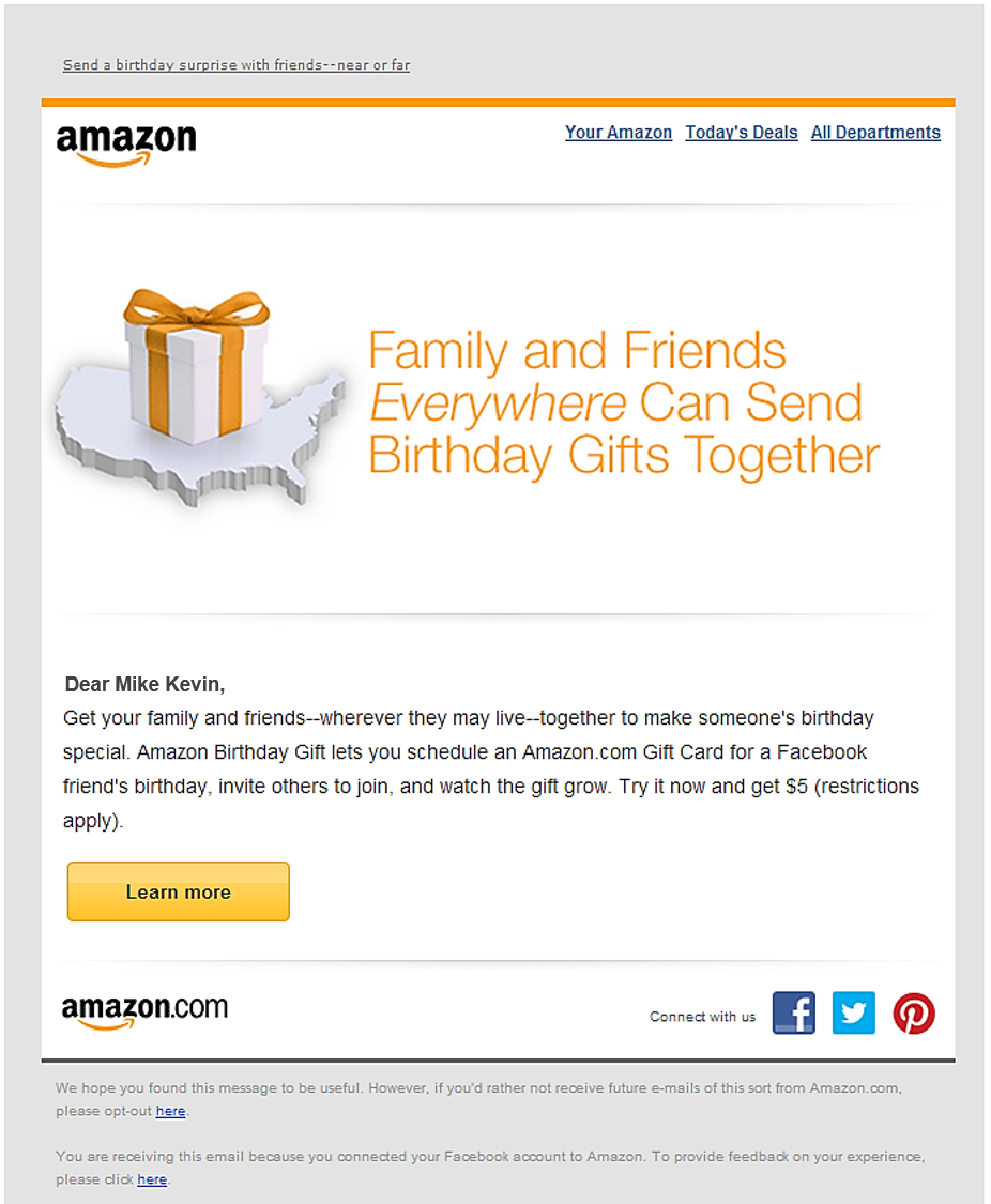 amazon email marketing