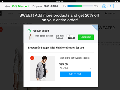 Boost Sales by Beeketing | Upsell & Cross-sell with Coupon