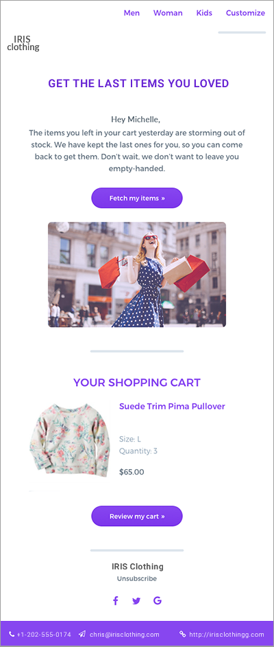 Mailbot email marketing for ecommerce