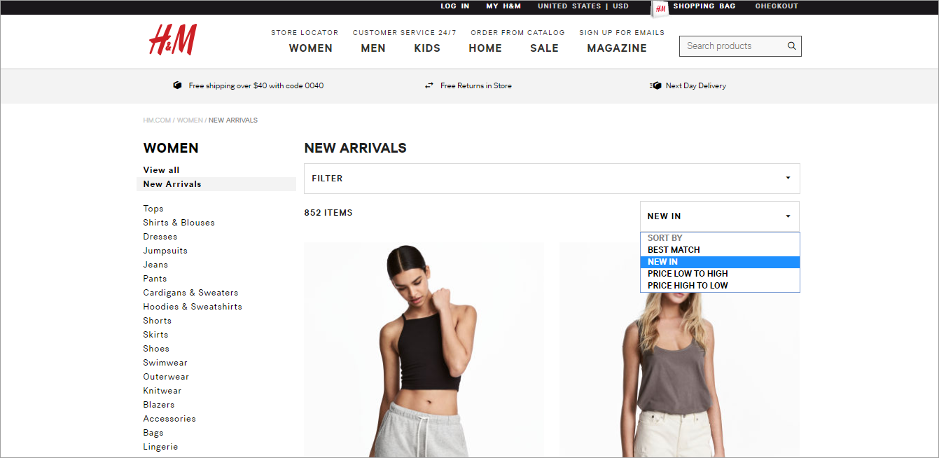 ecommerce website examples