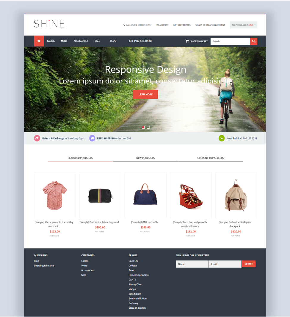 Shine BigCommerce theme