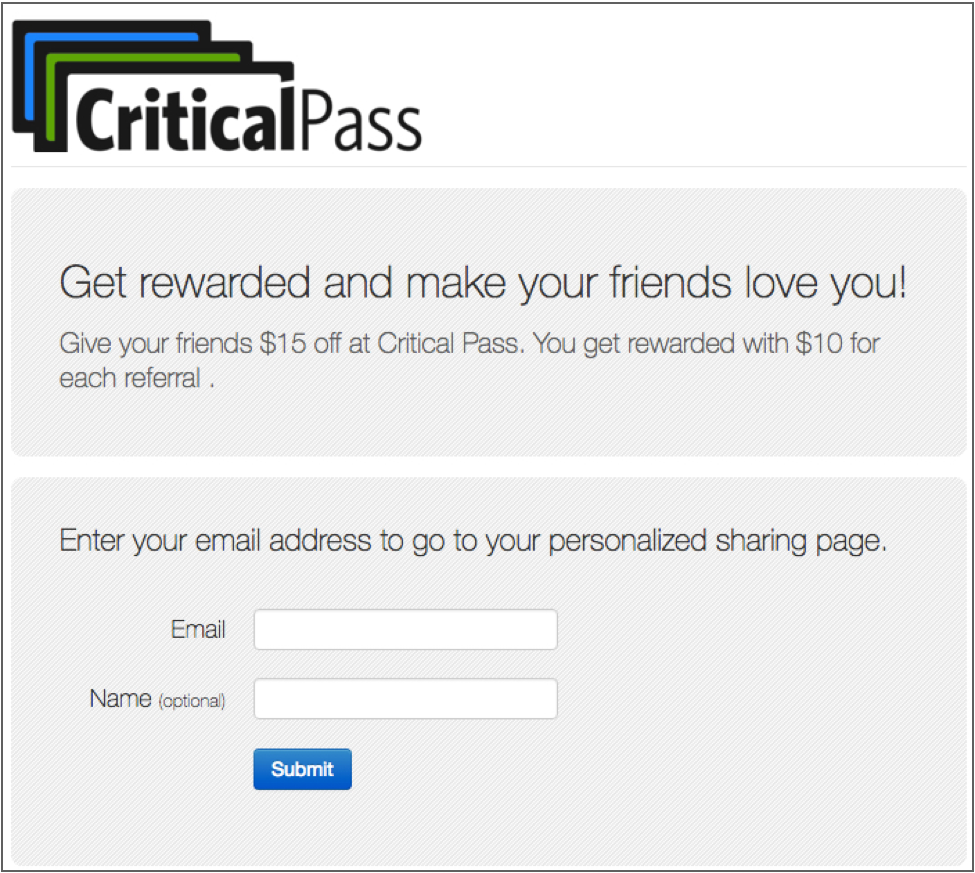 critical pass referral program