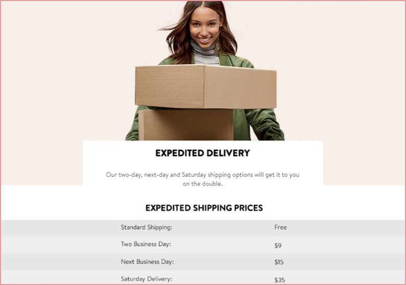 flat-rate shipping example