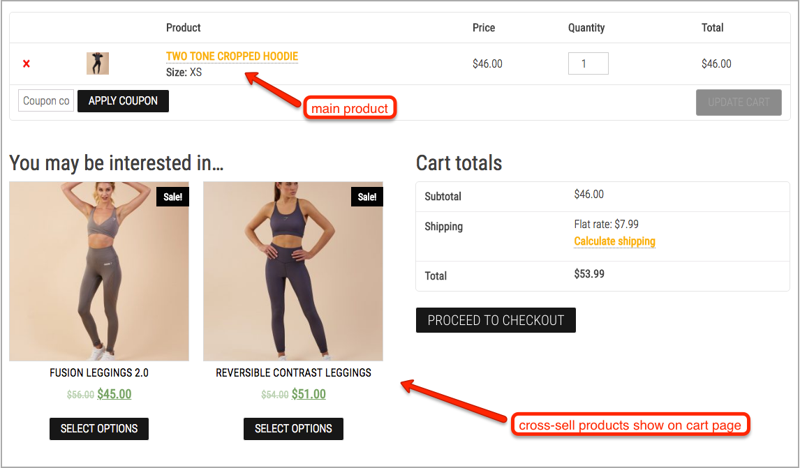woocommerce cross-sell
