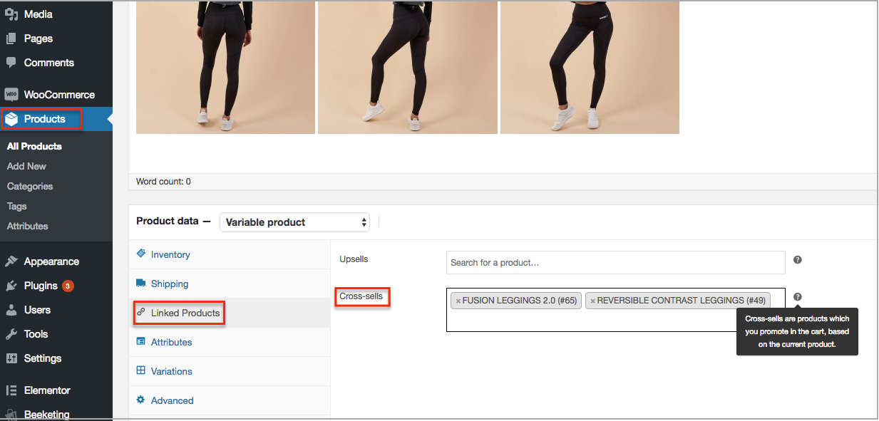 woocommerce cross-sell settings