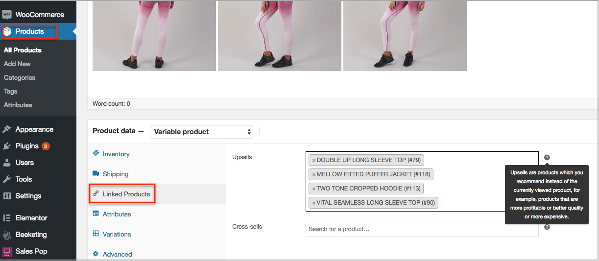 set up woocommerce upsell