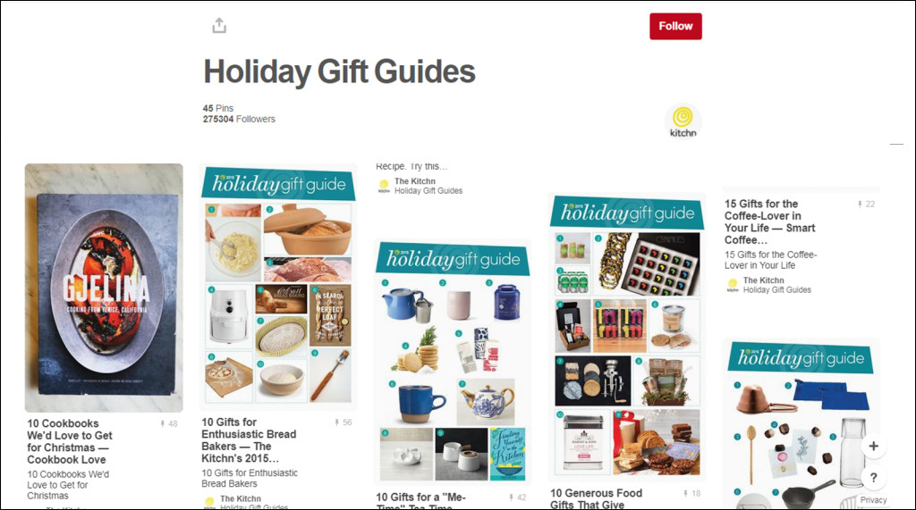 Holiday Gift Guide on Pinterest