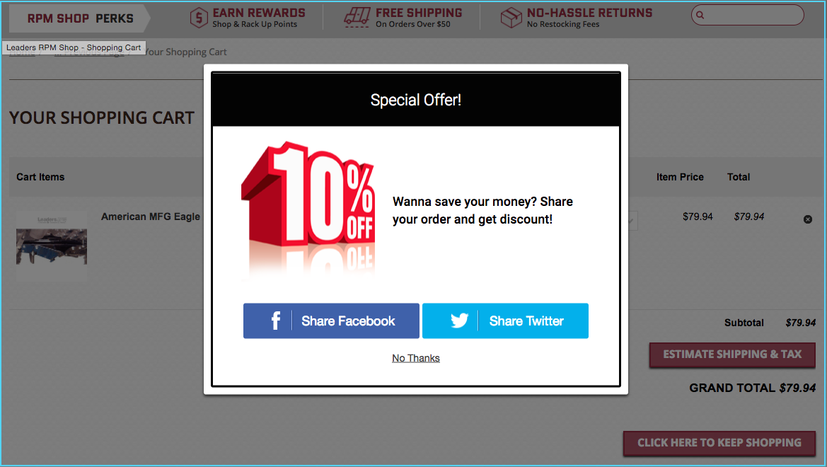 eCommerce case studies get social sharing posts
