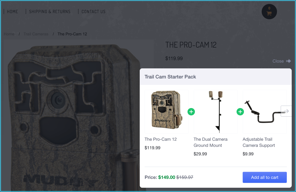 eCommerce case studies using cross-sell