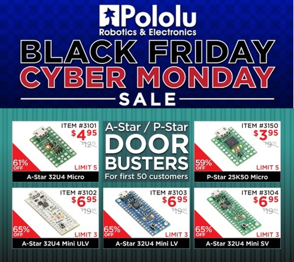 polulu Black Friday Cyber Monday