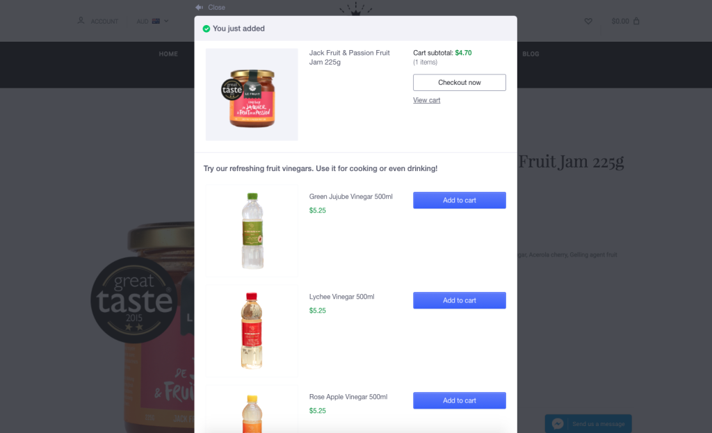 upselling offers for woocommerce dropship stores