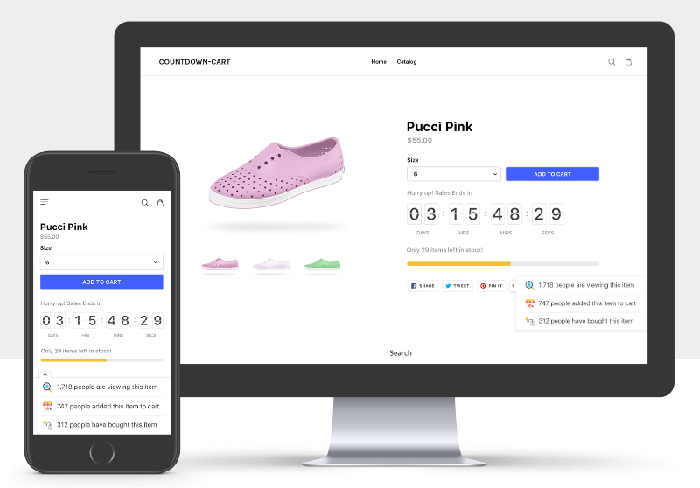 Countdown cart - Best shopify apps 2018