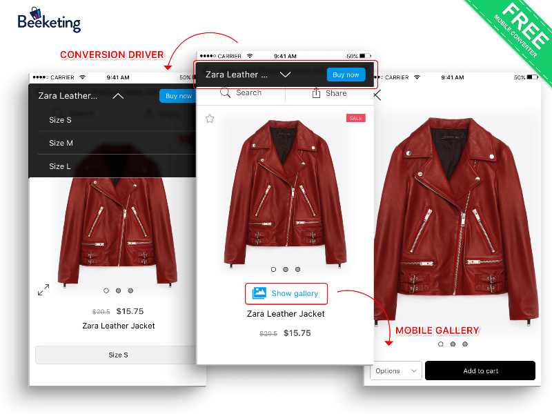 Mobile converter - One of the best Shopify apps in 2018