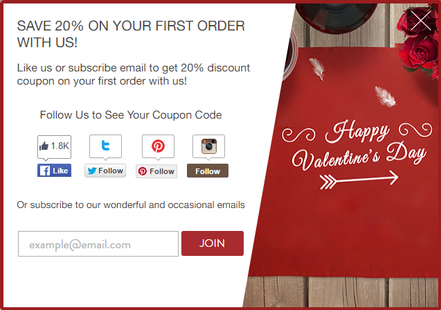 Better Coupon Box app - Valentine's Day marketing ideas