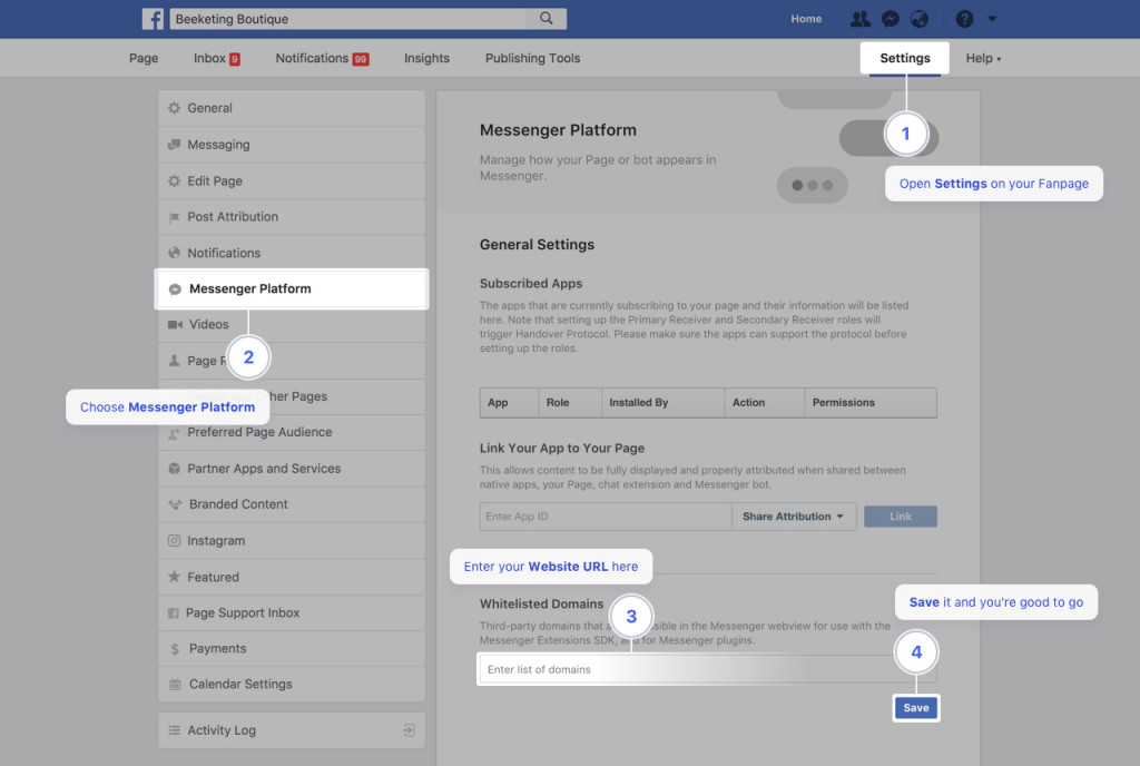 Connect with your customers using Facebook Messenger