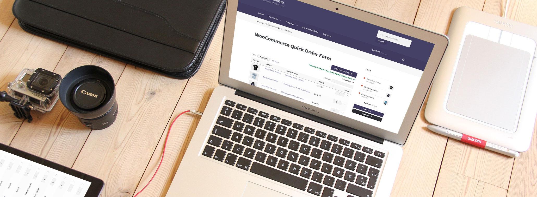 rapid order for WooCommerce plugin