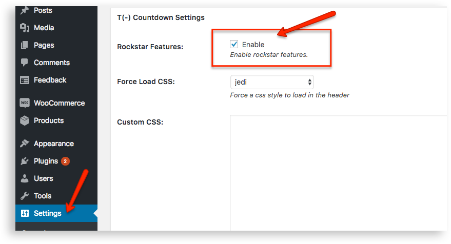 Enable Rockstar Features