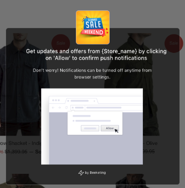 Web Push Notification for abandoned cart