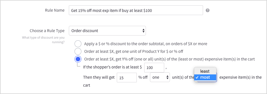 bigcommerce cart-level discounts