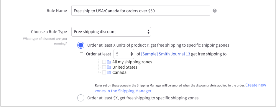 create free shipping promotion with bigcommerce cart level discount
