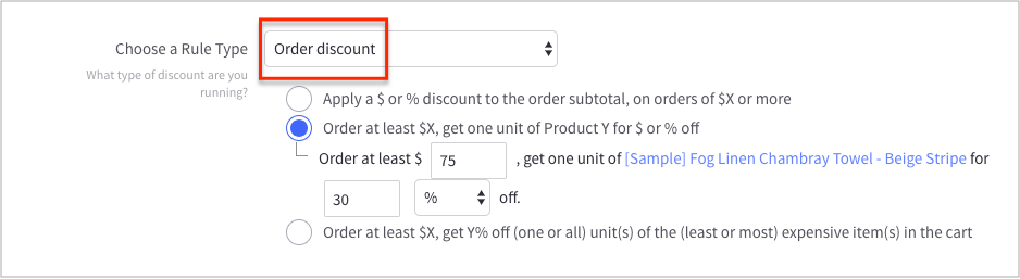 cart-level discount bigcommerce