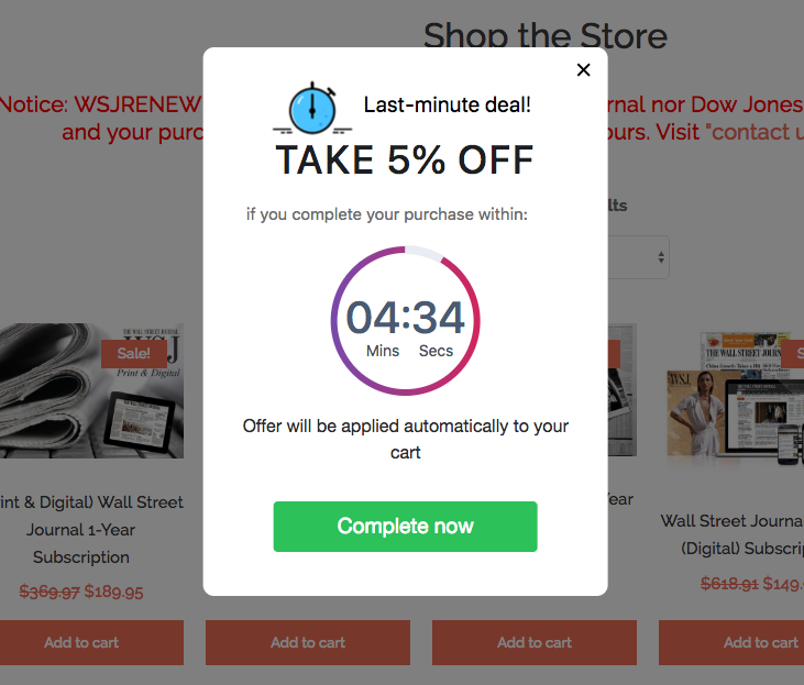 woocommerce marketing to set up countdown offer