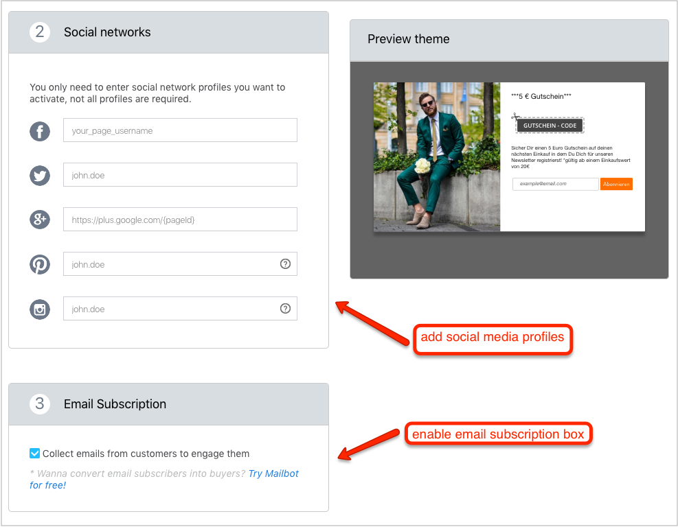create email popup for wordpress woocommerce
