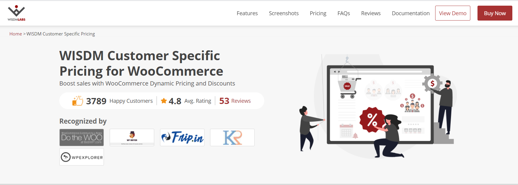WISDM Customer Specific Pricing for WooCommerce