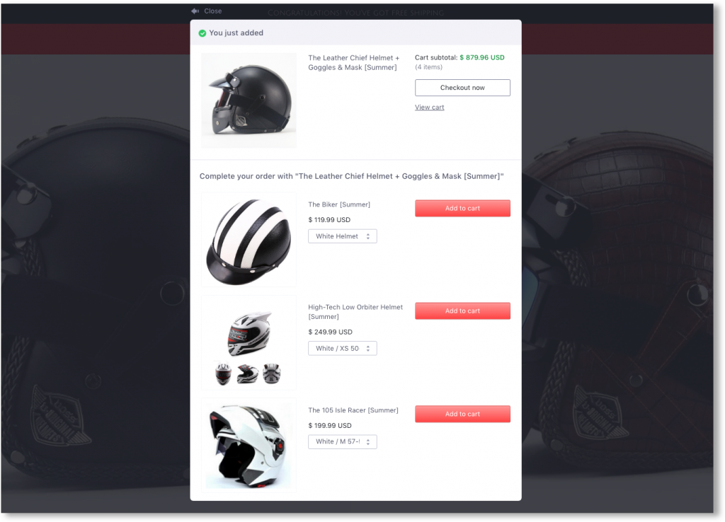 Woocommerce product plugins - upsell