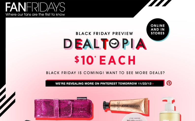 Sephora Black Friday 2013
