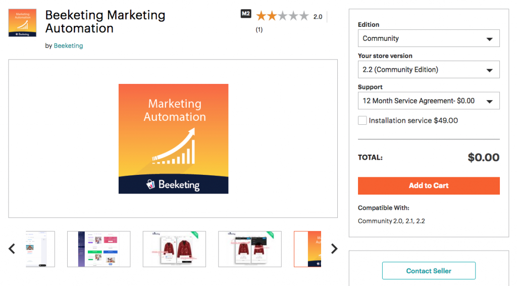 Beeketing extension on Magento marketplace