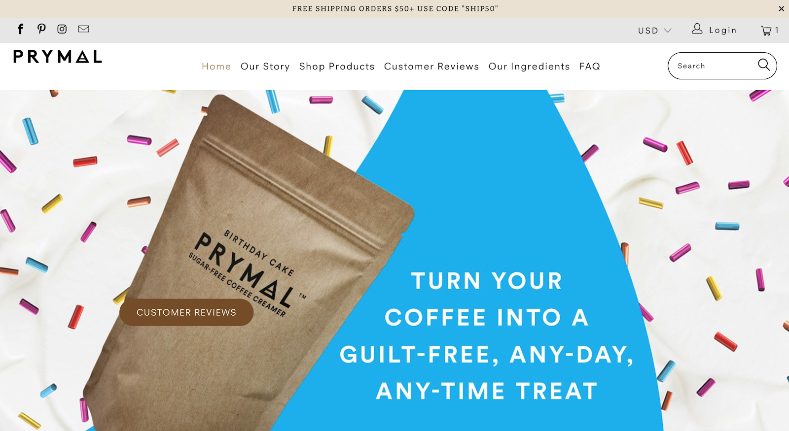 f9d1e9fb5 Prymal has been selling healthy creamers for coffee lovers who suffer from  Diabetes conditions on Shopify for one year