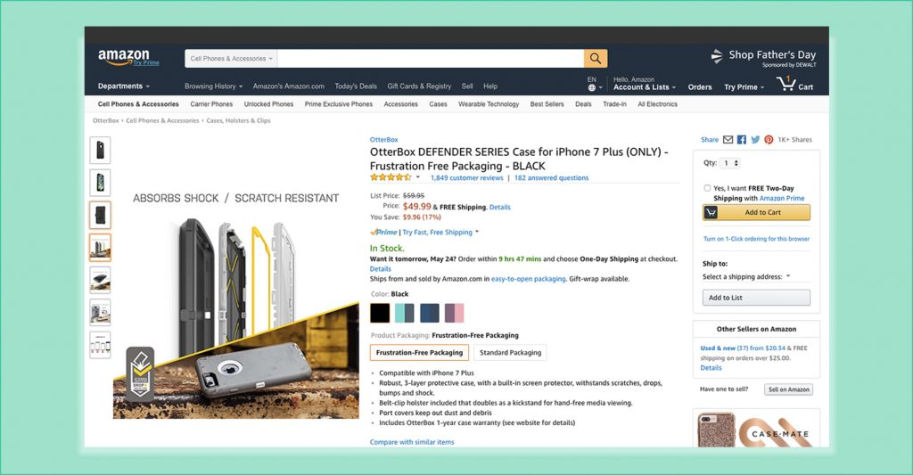 Optimize product page listing