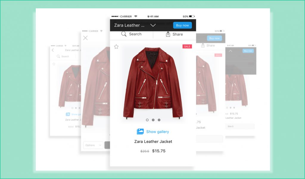 product page mobile optimize